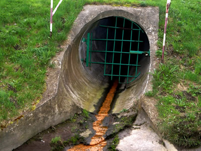 Leaking sewage