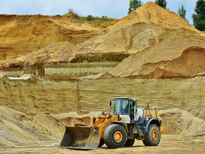 Open pit sand mining