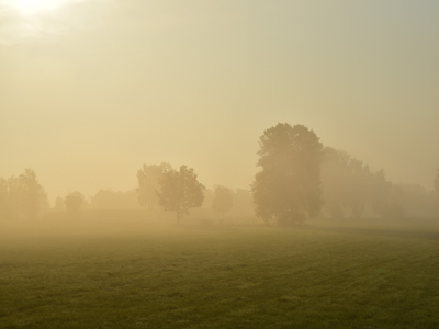 Haze decreases visibility
