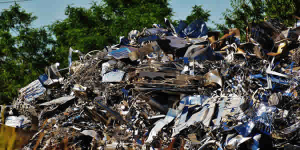 Metal scraps recycling facility