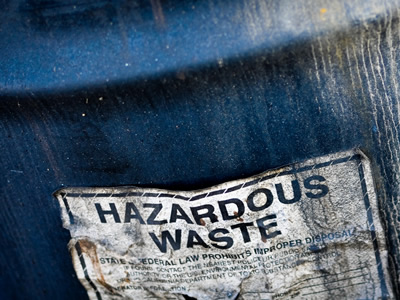 Old barrel with hazardous waste