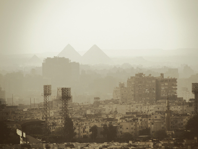 Smog in Cairo, Egypt