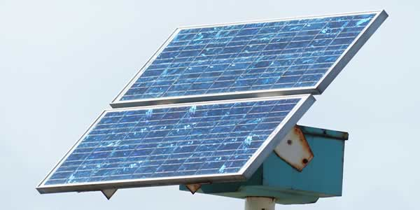 Corroding solar panels