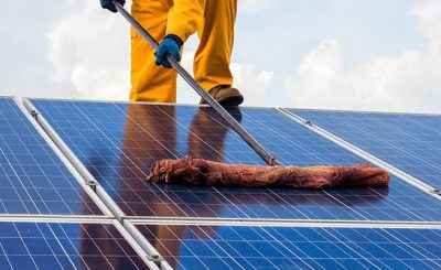 maintenance and cleaning of solar panels