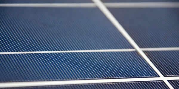 Bus bars on a solar panel