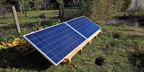 Solar panel orientation affects efficiency