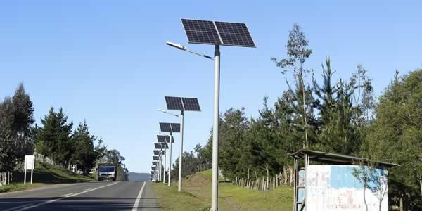 Solar powered headlights