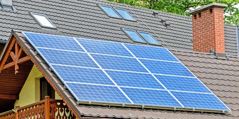 Solar panel roof leak