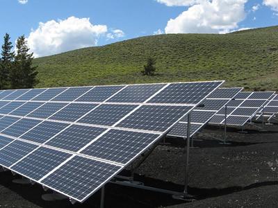 Multi-pole grounding of solar panels