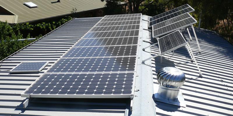 Solar panel mounting types