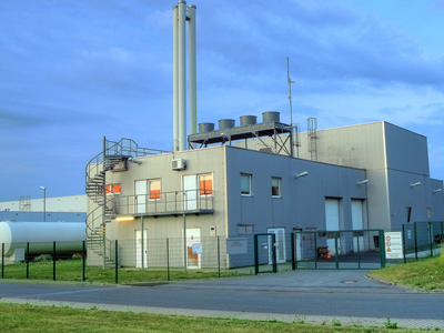 Biomass heating power plant in Germany