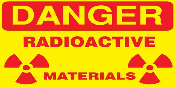 Radioactive materials warning