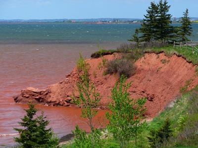 Eroding coastline