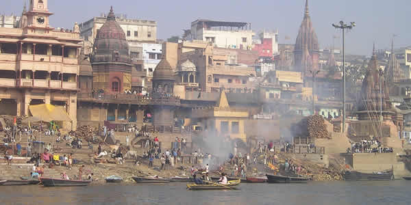 The sacred Ganges River in India