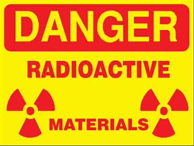 Radioactivity warning sign