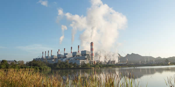 Industrial activities pollute water