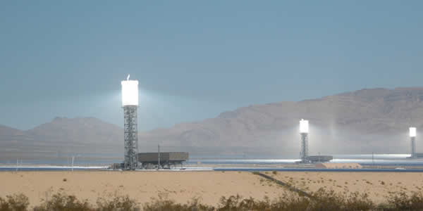 Concentrated solar power farm