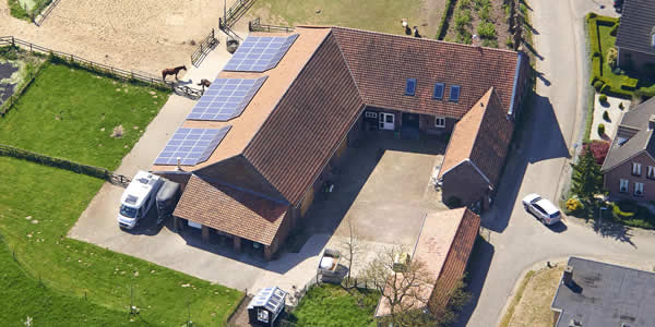 Photovoltaic solar system on a farm