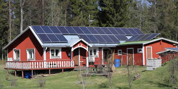 Residential solar pv system on a house