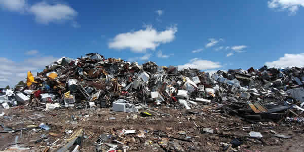 Landfill electronic waste