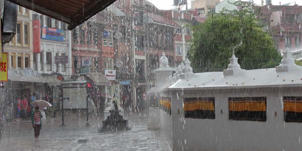 Monsoon rain in Nepal