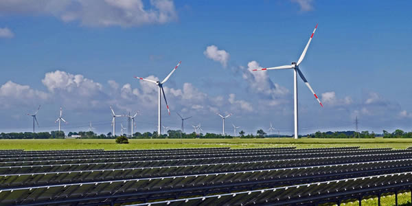 Solar and wind energy sources