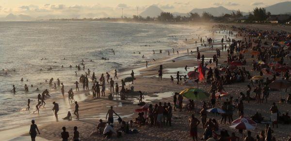 Crowded tourist destination